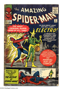 The Amazing Spider-Man #9 (Marvel, 1964) Condition: GD-. The origin and first appearance of Electro. Steve Ditko cover a...