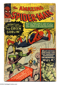 The Amazing Spider-Man #14 (Marvel, 1964) Condition: GD. The first appearance of the Green Goblin. Steve Ditko cover and...