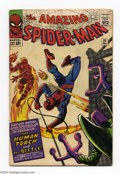 Silver Age (1956-1969):Superhero, The Amazing Spider-Man #21 (Marvel, 1965) Condition: VG. Second appearance of The Beetle. Steve Ditko cover and art. Overstr...