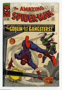 The Amazing Spider-Man #23 (Marvel, 1965) Condition: VF+. Green Goblin cover and story, his third appearance. Norman Osb...