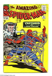 The Amazing Spider-Man #25 (Marvel, 1965) Condition: VG. First appearance of Mary Jane Watson (face not shown). Steve Di...