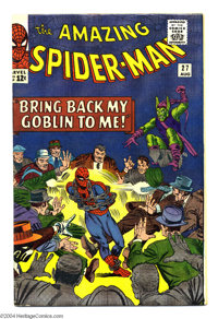 The Amazing Spider-Man #27 (Marvel, 1965) Condition: FN/VF. Green Goblin appearance. Steve Ditko cover and art. Overstre...