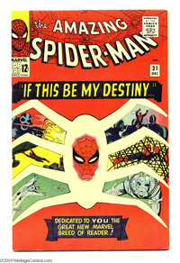 The Amazing Spider-Man #31 (Marvel, 1965) Condition: FN+. First appearance of Gwen Stacy as well as two buddies who woul...