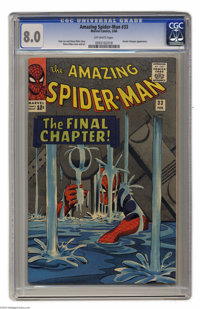 The Amazing Spider-Man #33 (Marvel, 1966) CGC VF 8.0 Off-white pages. Doctor Octopus appearance. Steve Ditko cover and a...