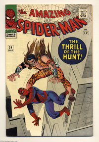 The Amazing Spider-Man #34 (Marvel, 1966) Condition: VF. Kraven the Hunter appears. Steve Ditko cover and art. Overstree...