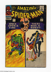 The Amazing Spider-Man #37 (Marvel, 1966) Condition: VG+. Introduction of Norman Osborn. Steve Ditko cover and art. Over...
