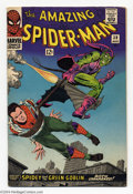 Silver Age (1956-1969):Superhero, The Amazing Spider-Man #39 (Marvel, 1966) Condition: VG/FN. Green Goblin's identity revealed as Norman Osborn. John Romita S...