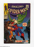 Silver Age (1956-1969):Superhero, The Amazing Spider-Man #49 (Marvel, 1967) Condition: FN-. Spidey fights Kraven and The Vulture II. John Romita Sr. cover and...