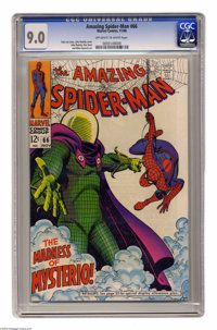 "The Amazing Spider-Man #66 (Marvel, 1968) CGC VF/NM 9.0 Off-white to white pages. ""The Madness of Mysterio!"" J..."