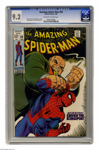 "The Amazing Spider-Man #69 (Marvel, 1969) CGC NM- 9.2 Off-white to white pages. ""Mission: Crush the Kingpin!""..."