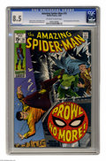 Silver Age (1956-1969):Superhero, The Amazing Spider-Man #79 (Marvel, 1969) CGC VF+ 8.5 Off-white to white pages. Second appearance of the Prowler. John Romit...