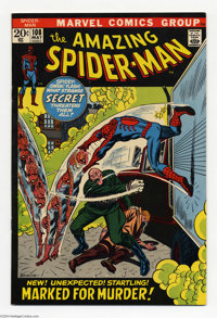 The Amazing Spider-Man #108 (Marvel, 1972) Condition: VF. First appearance Sha-San. John Romita Sr. cover and art. Overs...