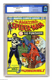 The Amazing Spider-Man #129 (Marvel, 1974) CGC FN+ 6.5 Off-white to white pages. First appearances of the Punisher and t...