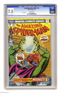 "Bronze Age (1970-1979):Superhero, The Amazing Spider-Man #142 (Marvel, 1975) CGC VF- 7.5 Off-white pages. ""Mysterio Means Madness!"" Ross Andru art. Overstreet..."