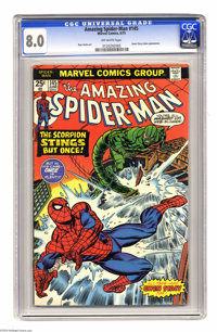 The Amazing Spider-Man #145 (Marvel, 1975) CGC VF 8.0 Off-white pages. Spidey vs. the Scorpion. Gwen Stacy clone appeara...