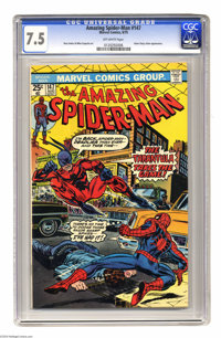 The Amazing Spider-Man #147 (Marvel, 1975) CGC VF- 7.5 Off-white pages. Spidey vs. the Tarantula. Gwen Stacy clone appea...