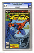 Modern Age (1980-Present):Superhero, The Amazing Spider-Man #200 (Marvel, 1980) CGC VF+ 8.5 Off-white to white pages. Spidey's origin is retold in this anniversa...