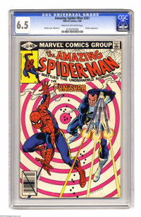 The Amazing Spider-Man #201 (Marvel) CGC FN+ 6.5 Cream to off-white pages. Spidey teams with the Punisher. John Romita S...
