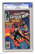 Modern Age (1980-Present):Superhero, The Amazing Spider-Man #252 (Marvel, 1984) CGC FN/VF 7.0 Off-white pages. Spidey dons his black costume. Ron Frenz and Klaus...