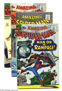 The Amazing Spider-Man #32-34 Group (Marvel, 1966) Condition: Average FN-. Steve Ditko cover and art in all issues. Appr...