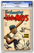 Golden Age (1938-1955):Non-Fiction, The Amazing Willie Mays #nn Including Bonus Memorabilia (FamousFunnies, 1954) CGC VF- 7.5 Off-white pages. In addition to t...
