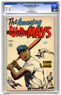 The Amazing Willie Mays #nn Including Bonus Memorabilia (Famous Funnies, 1954) CGC VF- 7.5 Off-white pages. In addition...