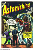 Golden Age (1938-1955):Horror, Astonishing #36 (Atlas, 1954) Condition: FN-. Dave Berg and PaulReinman art. Pencil writing on last page. Overstreet 2004 F...