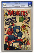 Silver Age (1956-1969):Superhero, The Avengers #4 (Marvel, 1964) CGC VG 4.0 Off-white pages. Classic key issue featuring the revival and first Silver Age appe...