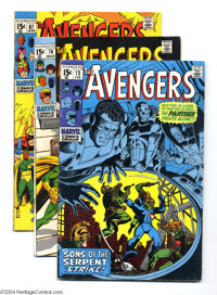 The Avengers Group (Marvel, 1970-72) Condition: Average VG+. This lot consists of issues #73, 74, 87, 88, 91, 94, 98, an...