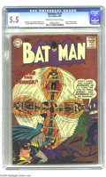 Batman #129 (DC, 1960) CGC FN- 5.5 Cream to off-white pages. Ultra-goofy Bat-villain the Spinner ties guest-star Batwoma...