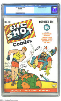 Big Shot Comics #18 (Columbia, 1941) CGC VF 8.0 Cream to off-white pages. Highest grade yet certified by CGC for this is...