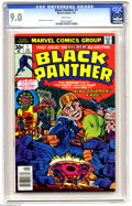 Bronze Age (1970-1979):Superhero, Black Panther #1 (Marvel, 1977) CGC VF/NM 9.0 White pages. Jack Kirby cover and art. Overstreet 2004 VF 9.0 value = $23; NM-...