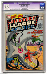 The Brave and the Bold #28 (DC, 1960) CGC Apparent GD+ 2.5 Cream to off-white pages. Origin and first appearance of the...