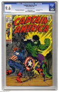 Silver Age (1956-1969):Superhero, Captain America #110 (Marvel, 1969) CGC NM+ 9.6 Off-white to white pages. A late-Silver Age classic in impeccable condition....