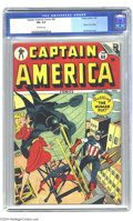 Golden Age (1938-1955):Superhero, Captain America Comics #60 (Timely, 1947) CGC FN+ 6.5 Off-white pages. Human Torch story. Syd Shores cover. Overstreet 2004 ...