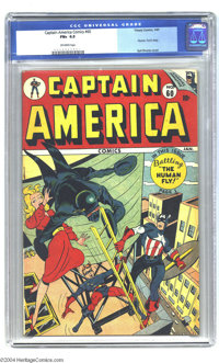 Captain America Comics #60 (Timely, 1947) CGC FN+ 6.5 Off-white pages. Human Torch story. Syd Shores cover. Overstreet 2...