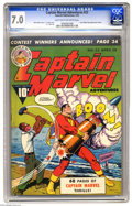 Golden Age (1938-1955):Superhero, Captain Marvel Adventures #23 (Fawcett, 1943) CGC FN/VF 7.0 Light tan to off-white pages. C. C. Beck cover and art. Last Gol...