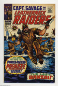 Silver Age (1956-1969):War, Captain Savage #1 (Marvel, 1968) Condition: VF. Sgt. Fury and his Howling Commandos cameo. Overstreet 2004 VF 8.0 value = $2...