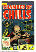 Golden Age (1938-1955):Horror, Chamber of Chills #24 (Harvey, 1954) Condition: VG/FN. Lee Eliascover art. Bob Powell, Mort Meskin, and Howard Nostrand int...