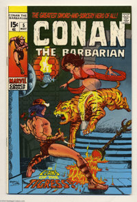 Conan the Barbarian #5 (Marvel, 1971) Condition: NM-. Barry Windsor-Smith cover and art. Overstreet 2004 NM- 9.2 value =...