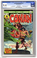 Bronze Age (1970-1979):Superhero, Conan the Barbarian #37 (Marvel, 1974) CGC NM 9.4 Off-white pages. When you want to make a fill-in issue special, you can't ...