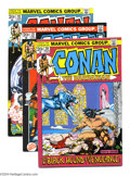 Bronze Age (1970-1979):Miscellaneous, Conan the Barbarian #20-22 Group (Marvel, 1972-73) Condition:Average VF/NM. A collection of three beautiful comics: #20-22....(Total: 3 Comic Books Item)