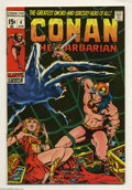 Bronze Age (1970-1979):Miscellaneous, Conan the Barbarian #4 and 5 Group (Marvel, 1971) Condition:Average VF+. Both have Barry Smith art. Overstreet 2004 value f...(Total: 2 Comic Books Item)