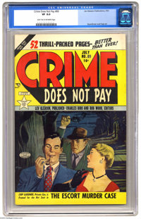 Crime Does Not Pay #89 (Lev Gleason, 1950) CGC VF 8.0 Light tan to off-white pages. Pained cover by Bob Fuje. Fred Guard...
