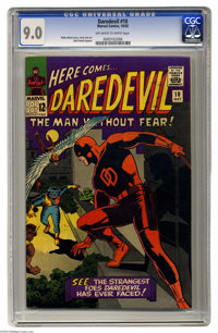 Daredevil #10 (Marvel, 1965) CGC VF/NM 9.0 Off-white to white pages. Wally Wood cover. Overstreet 2004 VF/NM 9.0 value -...