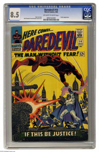 Daredevil #14 (Marvel, 1966) CGC VF+ 8.5 Off-white to white pages. John Romita Sr. and Frank Giacoia cover and interior...