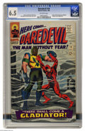 Silver Age (1956-1969):Superhero, Daredevil #18 (Marvel, 1966) CGC FN- 6.5 Off-white pages. Origin and first appearance of the Gladiator. Avengers cameo. John...