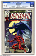 Bronze Age (1970-1979):Superhero, Daredevil #158 (Marvel, 1979) CGC NM 9.4 White pages. Frank Miller's run on Daredevil begins. Origin and death of Deaths...