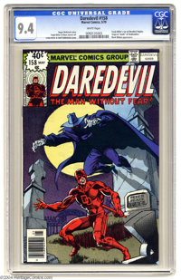 Daredevil #158 (Marvel, 1979) CGC NM 9.4 White pages. Frank Miller's run on Daredevil begins. Origin and death of Deaths...