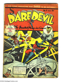 Daredevil Comics #8 (Lev Gleason, 1942) Condition: GD/VG. Charles Biro cover. The Claw appears. Overstreet 2004 GD 2.0 v...
